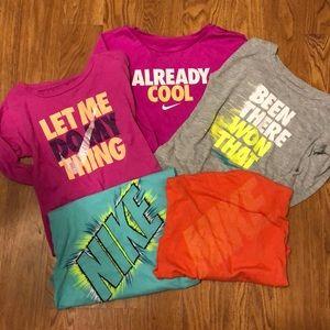 5 girls long sleeve nike shirts